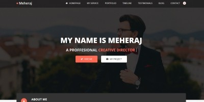 Meheraj - Personal Portfolio And Resume Template