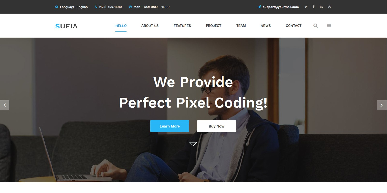 Sufia - Responsive Multipurpose HTML5 Template