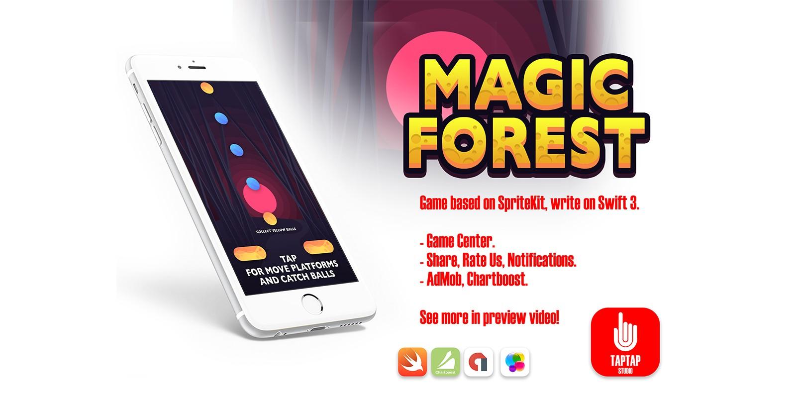 Magic Forest - iOS Game Sour e Code