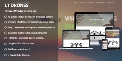 LT Drones - Drone WordPress Theme