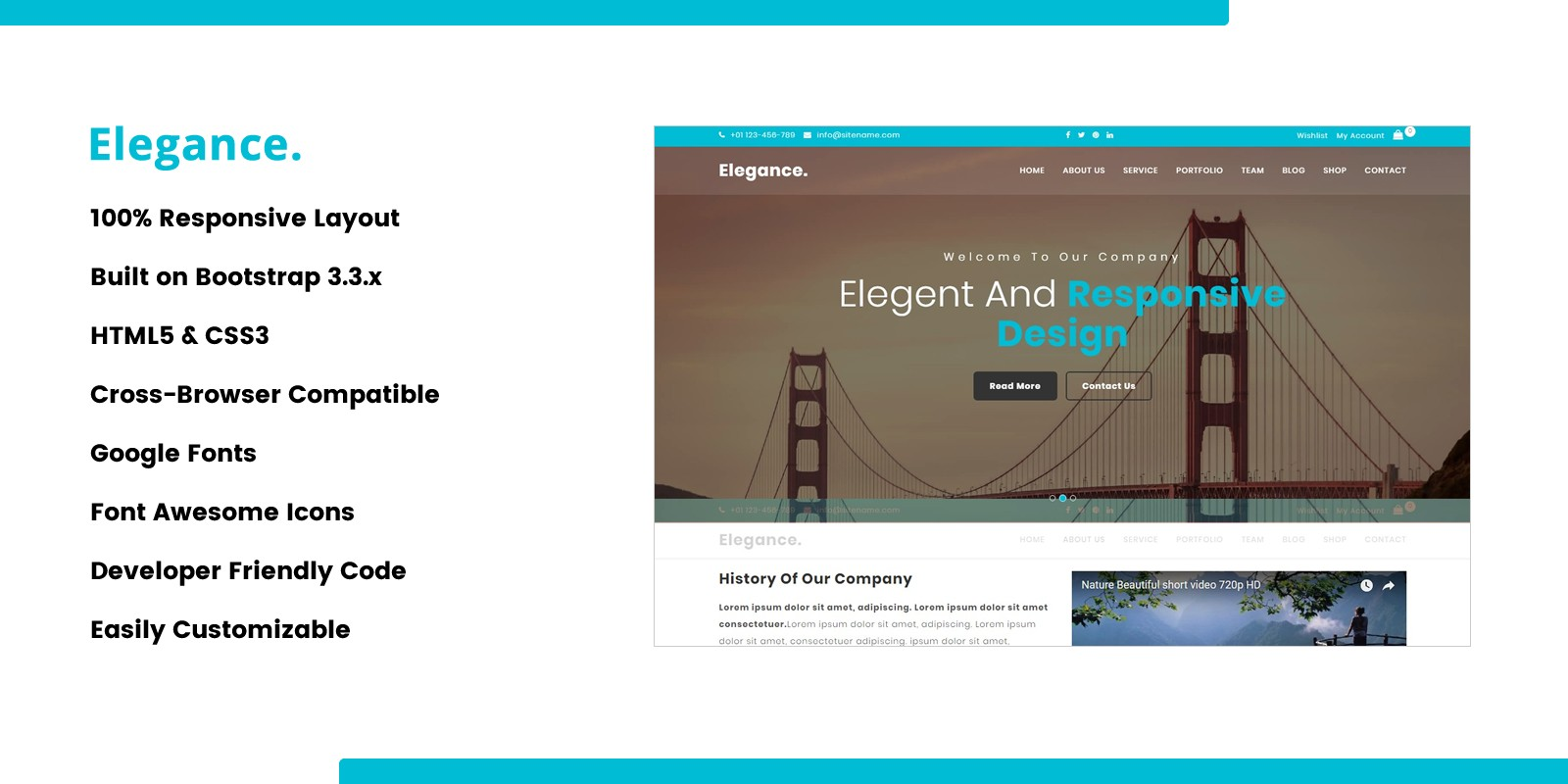 Elegance - Onepage Business HTML Template