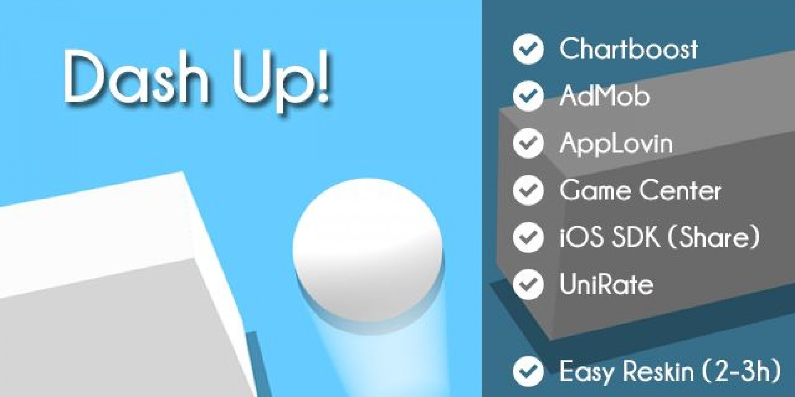 Dash Up - iOS Unity Game Template - Casual Game Templates For Unity ...