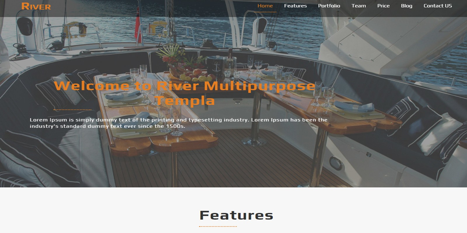 River - Modern One page HTML Template