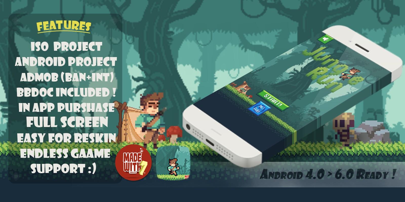 Jungle Runner Game Source Code