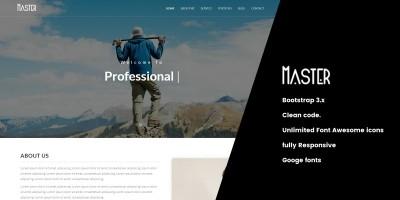 Master - Responsive Portfolio Temaplate