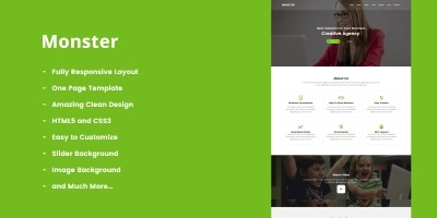 Monster - One Page MultiPurpose HTML5 Template.