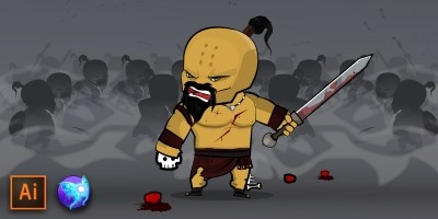 The Barbarian Game Character Sprites