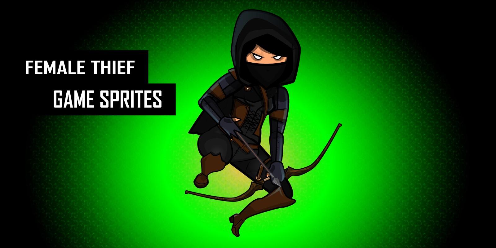 Female Dark Thief Character Sprites