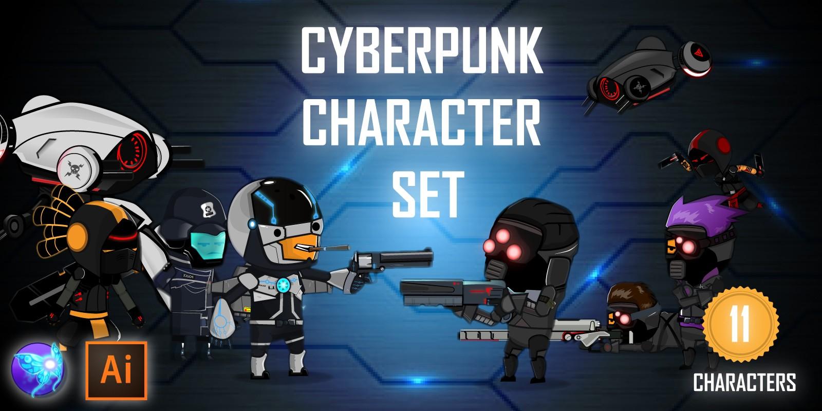Cyberpunk Game Character Sprites