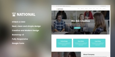 National - Corporate HTML Template.