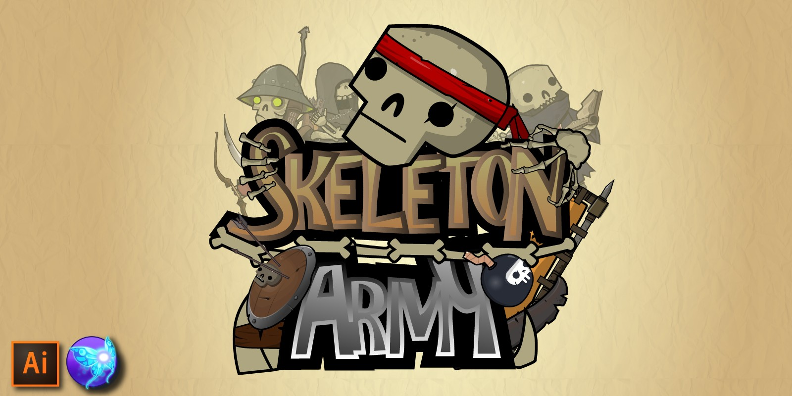 Skeleton Army Character Assets