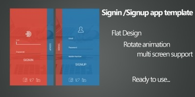 Signin UI Android App Components