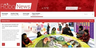 RoboNews - HTML Template for News Agencies
