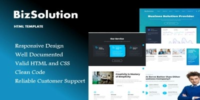 BizSolution - HTML Website Template
