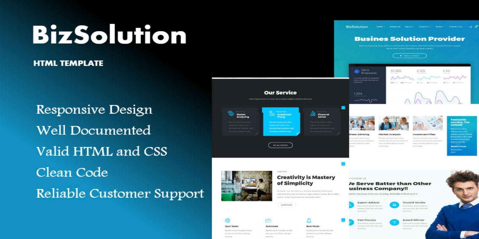 Bizsolution html website template business html website bizsolution html website template flashek Choice Image