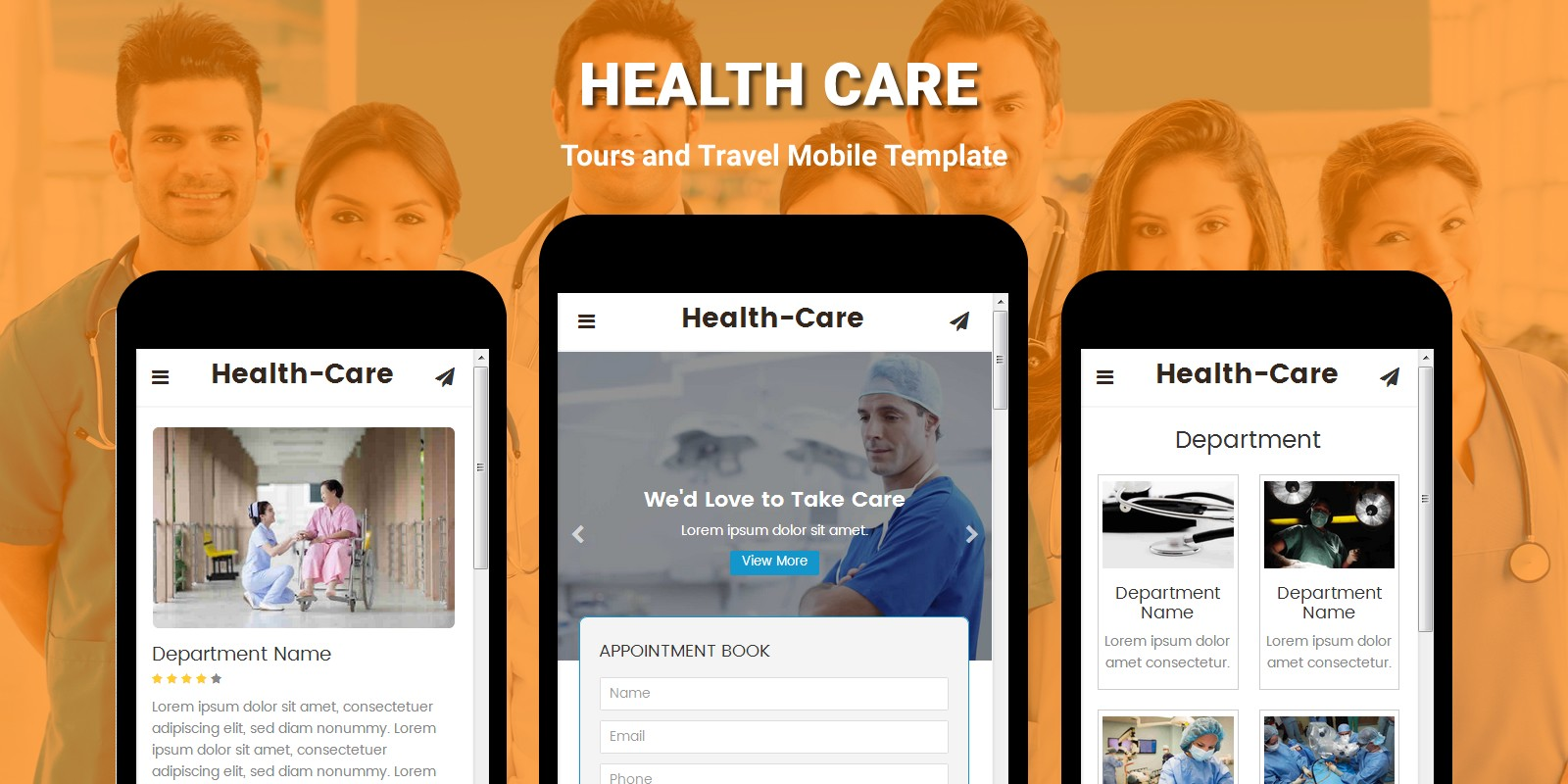 Health Care - Medical and Health Mobile Template