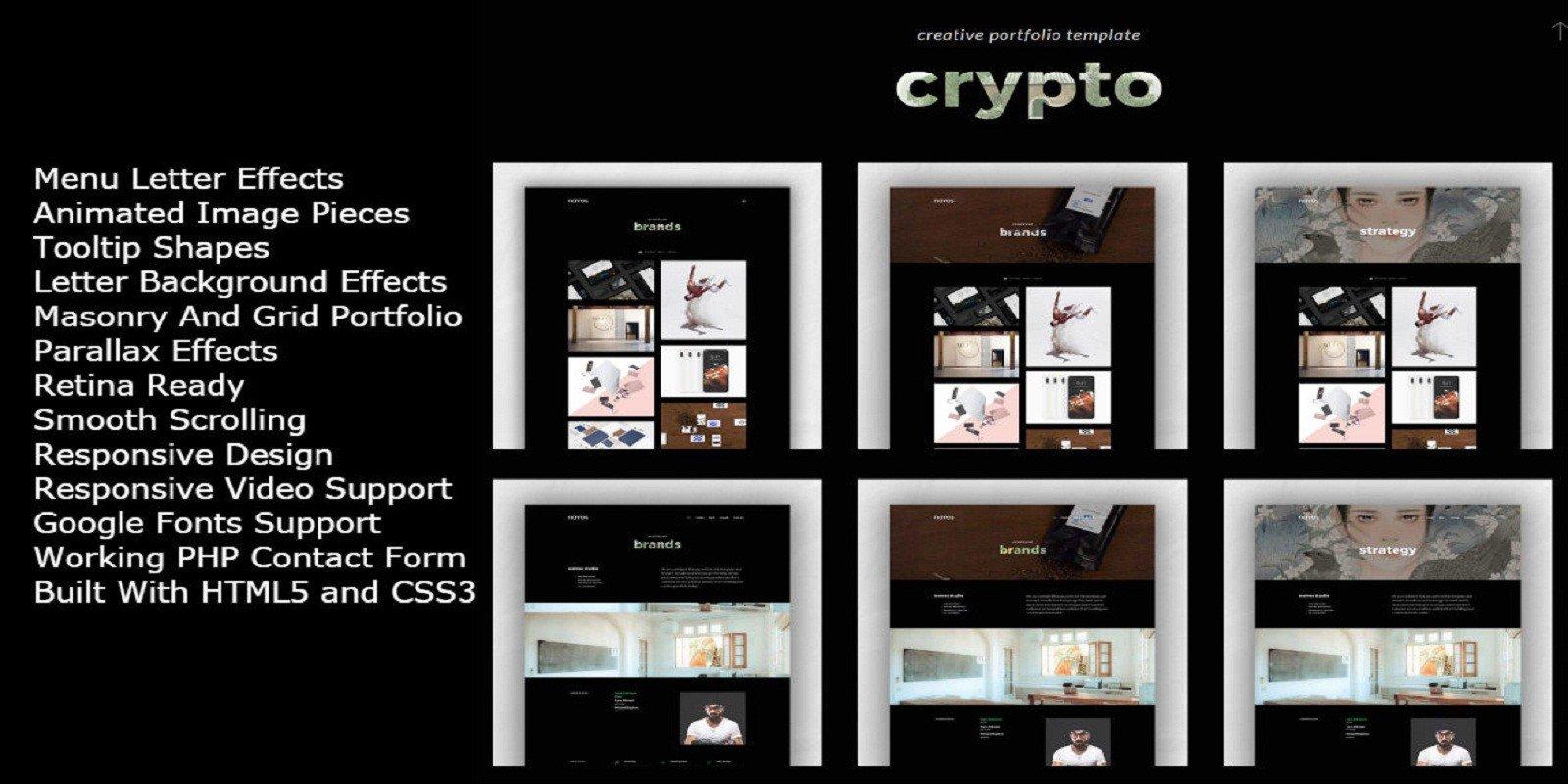 Crypto - Creative Portfolio Template - HTML Portfolio Website ...
