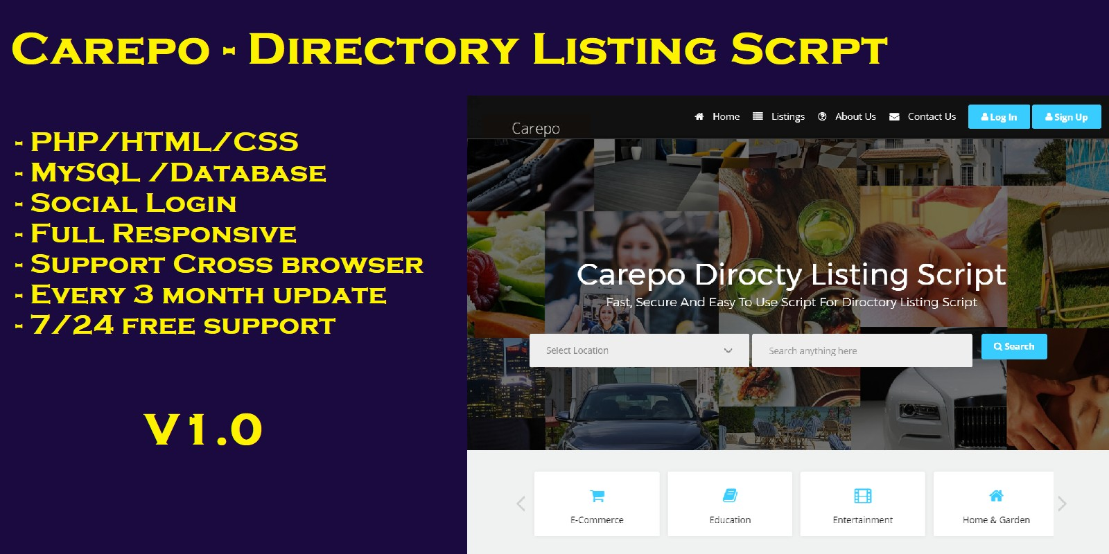 Carepo - Directory Listing Script PHP
