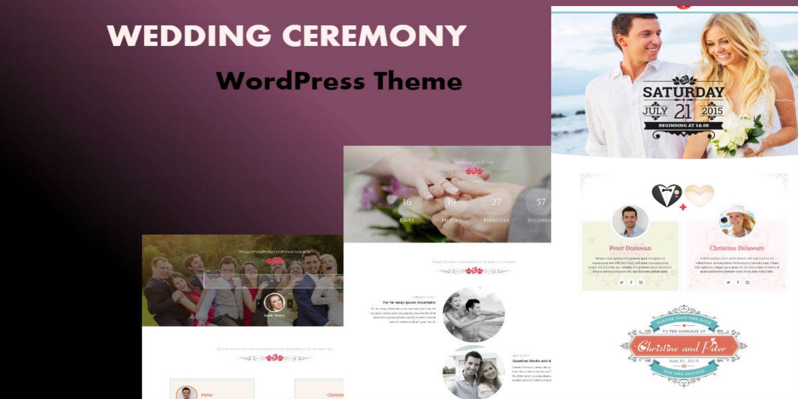 Wedding Ceremony - Wordpress Theme