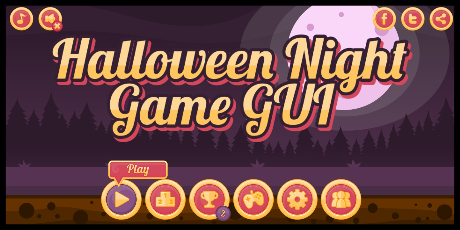 Halloween Night - Game GUI