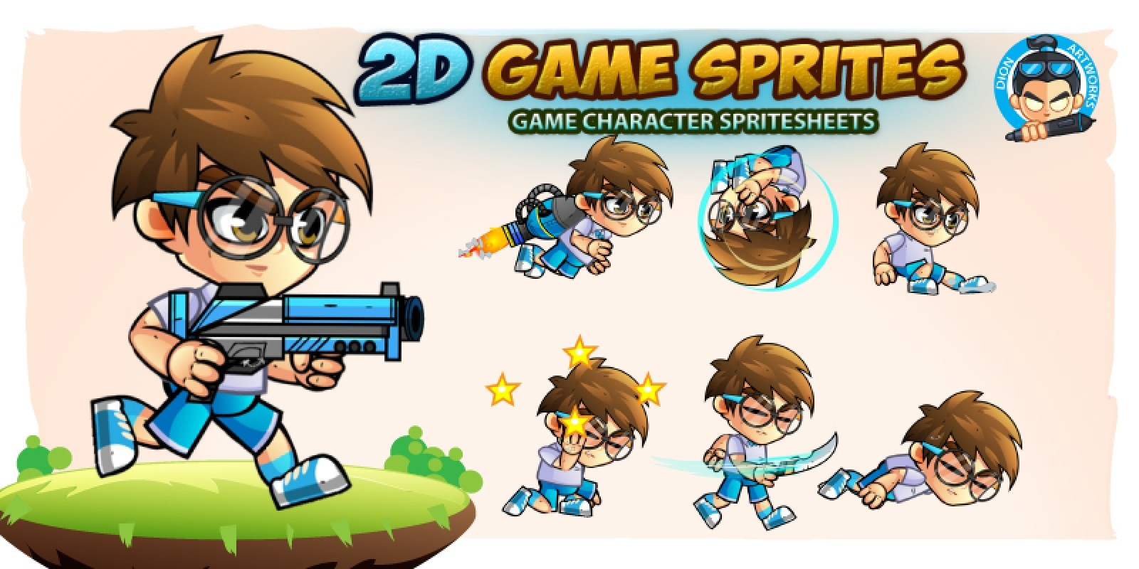 2d game character sprites 11 - game graphic assets | codester