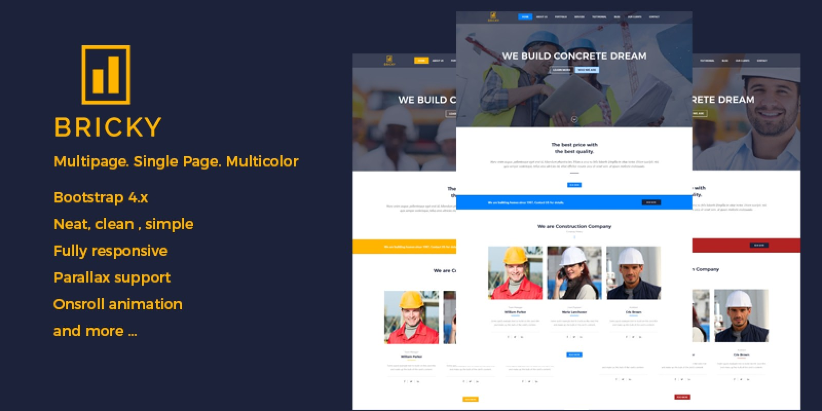 Bricky - Construction Website Template