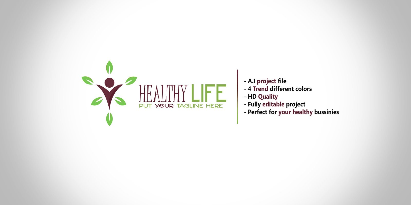 Healthy Life - Logo Template