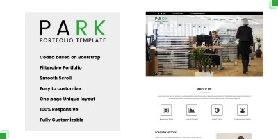 Park - One Page Multipurpose HTML Template.