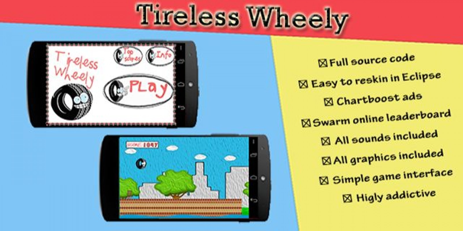 Tireless Wheely - Android Game Source Code