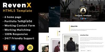RevenX Personal Portfolio HTML Template