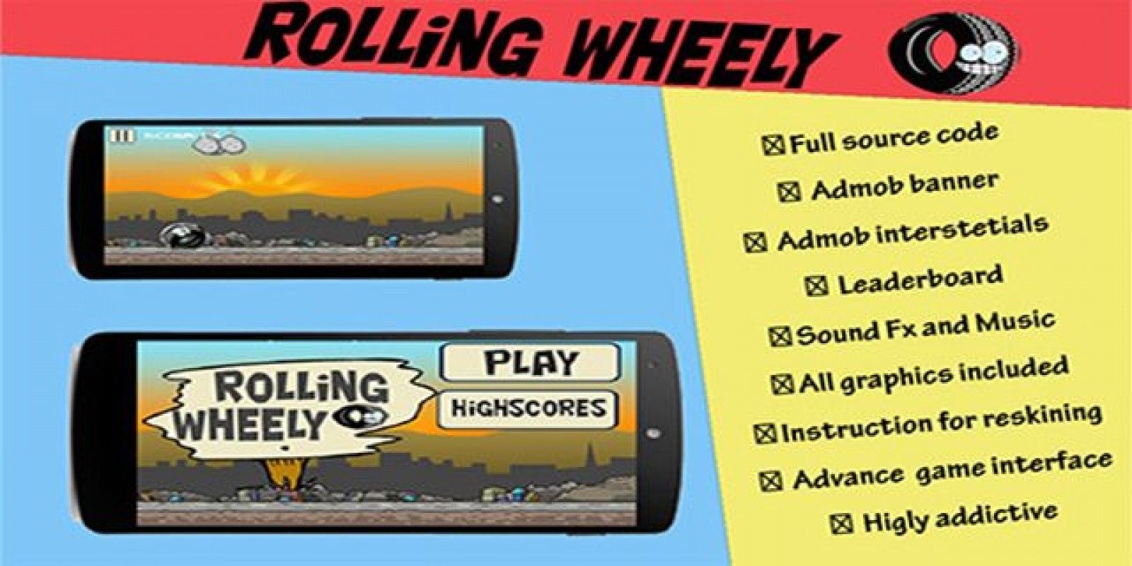 Rolling Wheely with Admob - Android Source Code