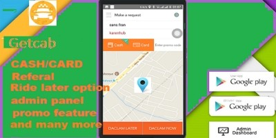 Taxi Booking Android With Backend Admin Panel