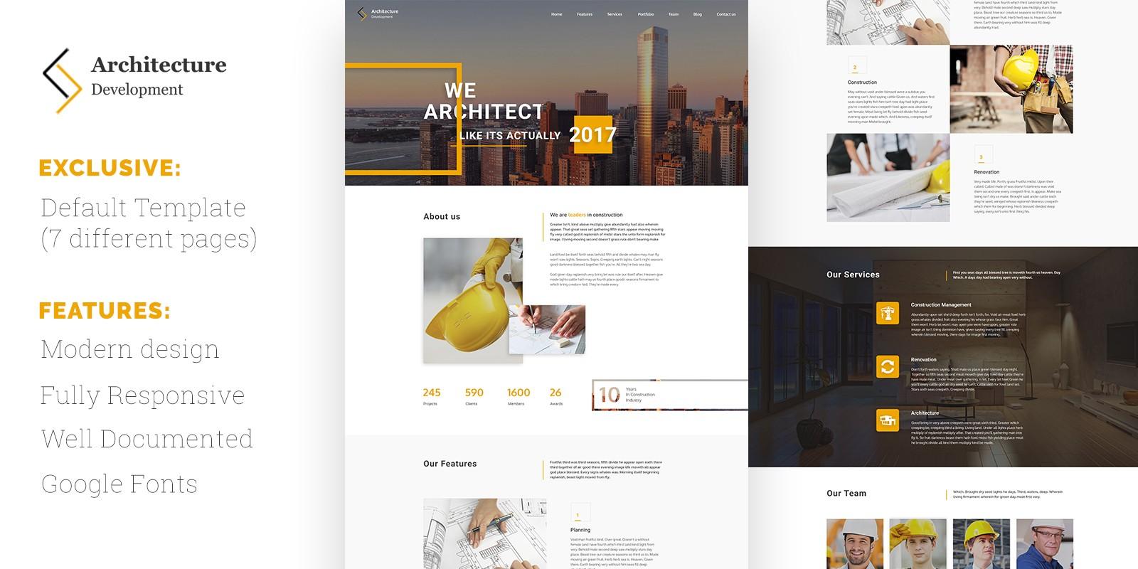 Architecture Development HTML Template