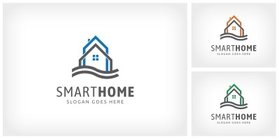 Smart Home - Logo Template