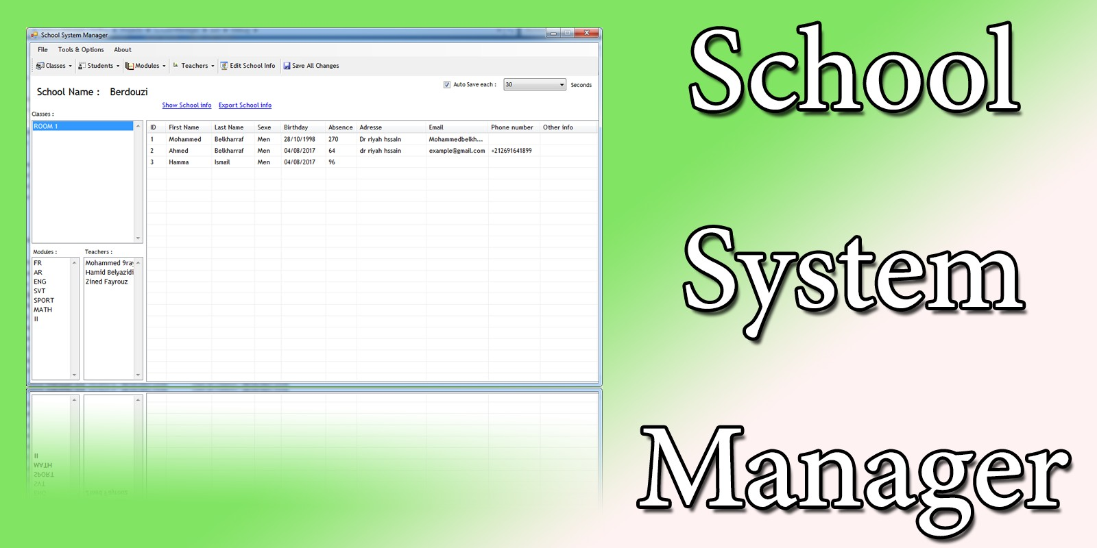 School System Manager