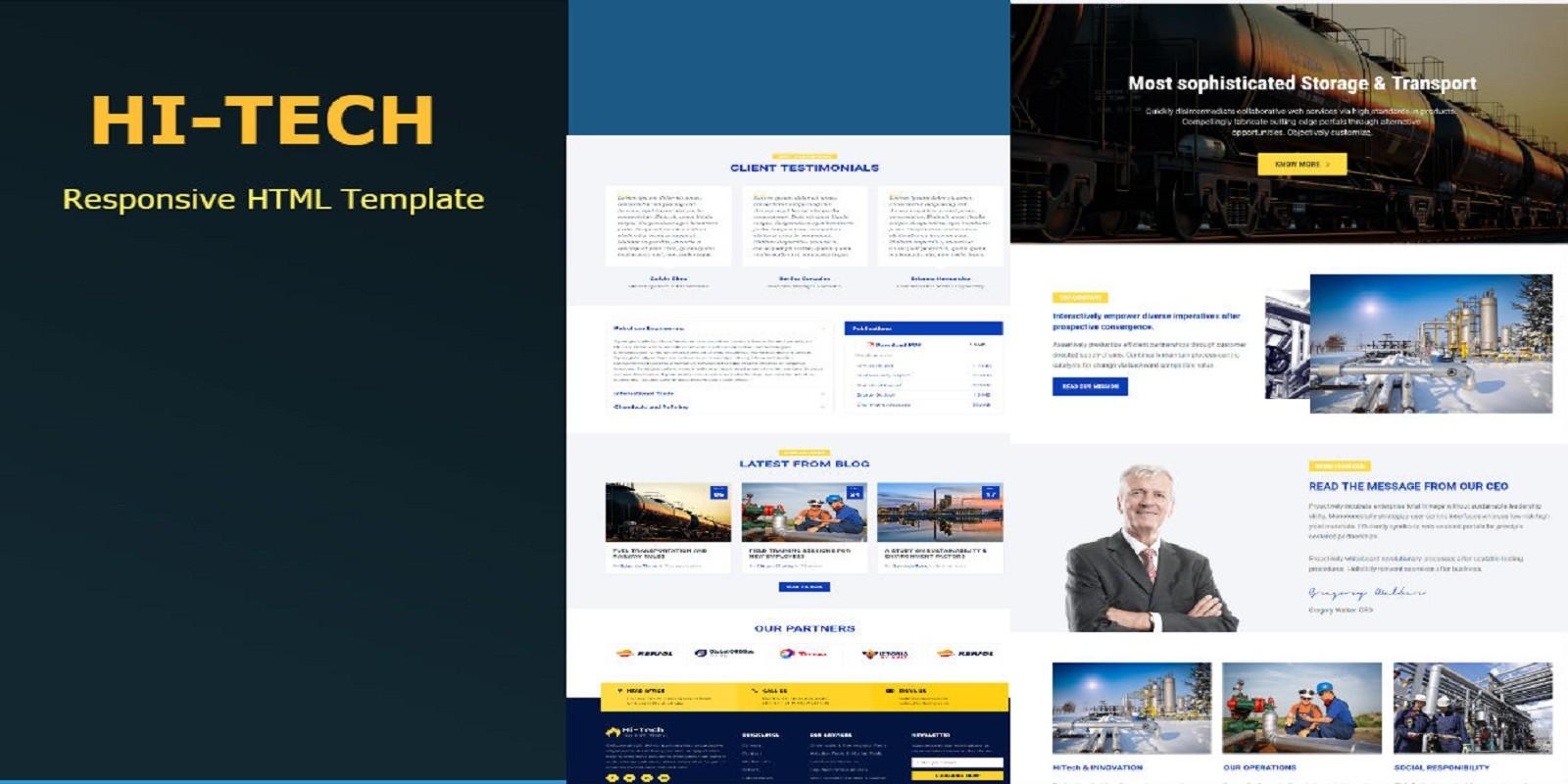 Hi-Tech - Responsive HTML Template - Miscellaneous HTML Website ...