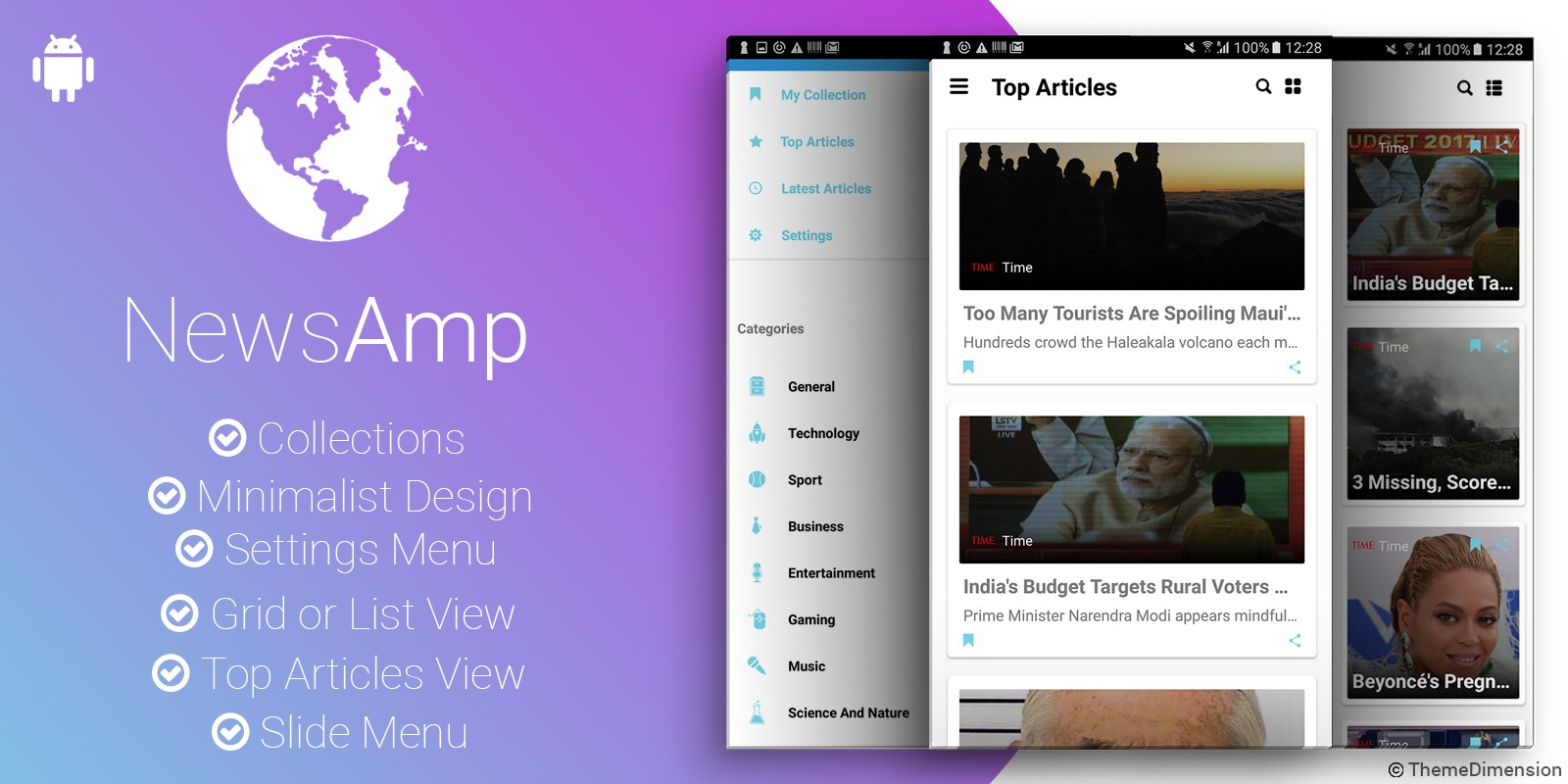 NewsAmp - Android News Application
