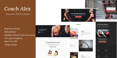 Coach Alex - HTML Template