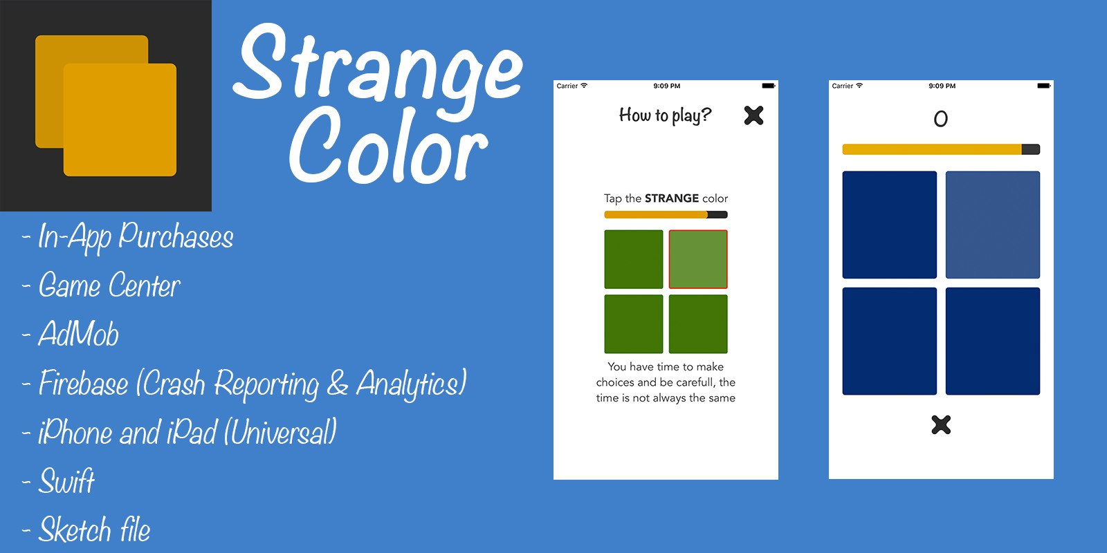 Strange Color - iOS Game Template