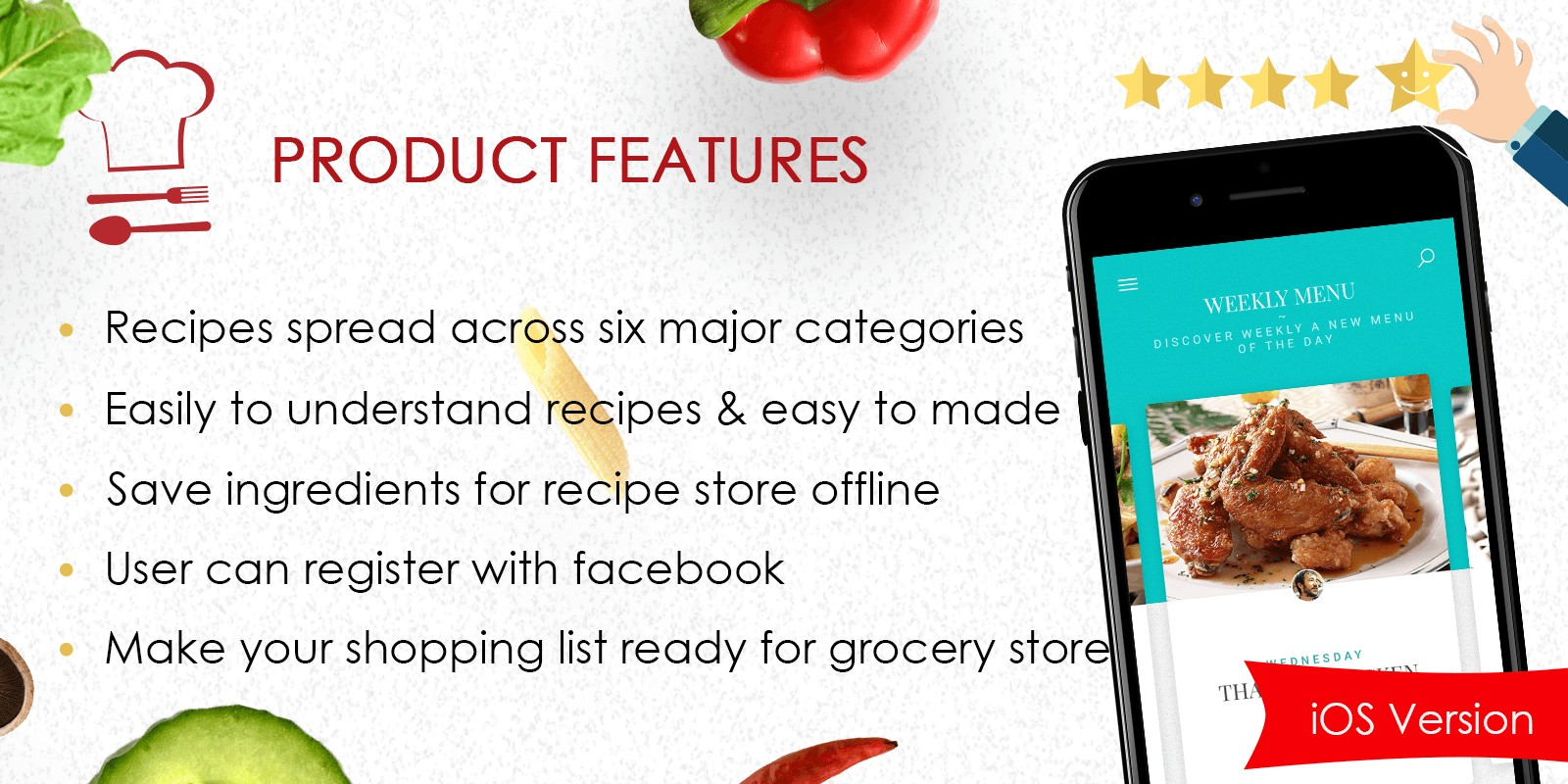 Foodie recipes ios app source code food app templates for ios foodie recipes ios app source code forumfinder