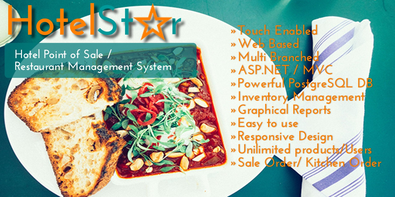 HotelStar Point of Sale and Restaurant Management