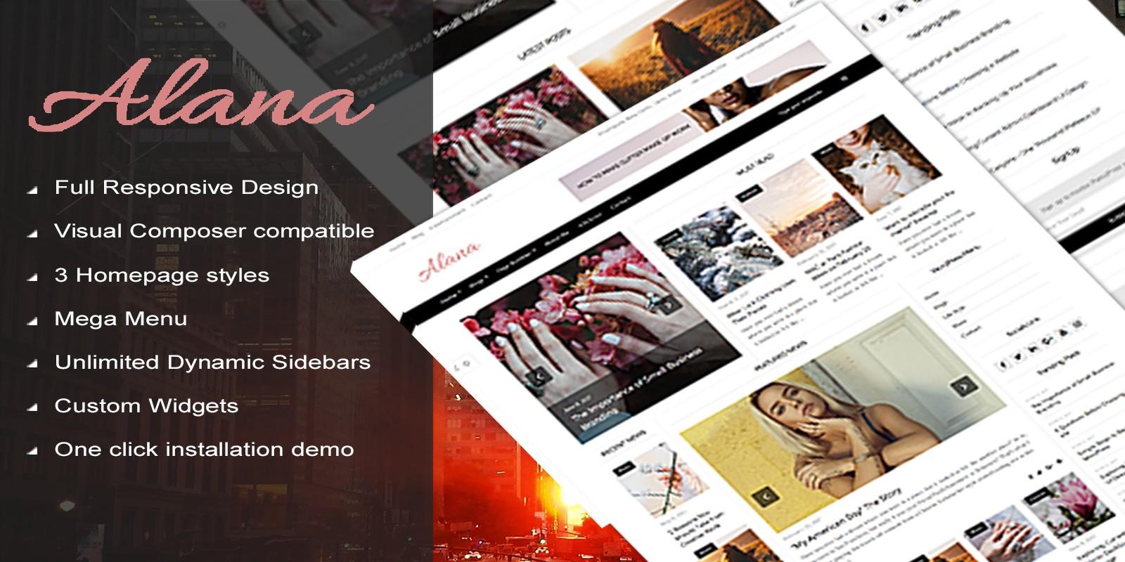 Alana -  WordPress Blog Magazine Theme