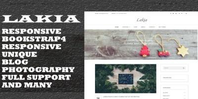 Lakia - HTML Blog Template
