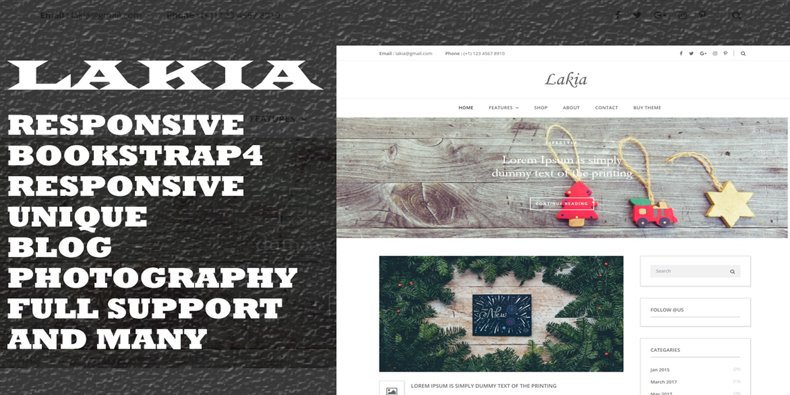 Lakia - HTML Blog Template - HTML Blog Website Templates | Codester