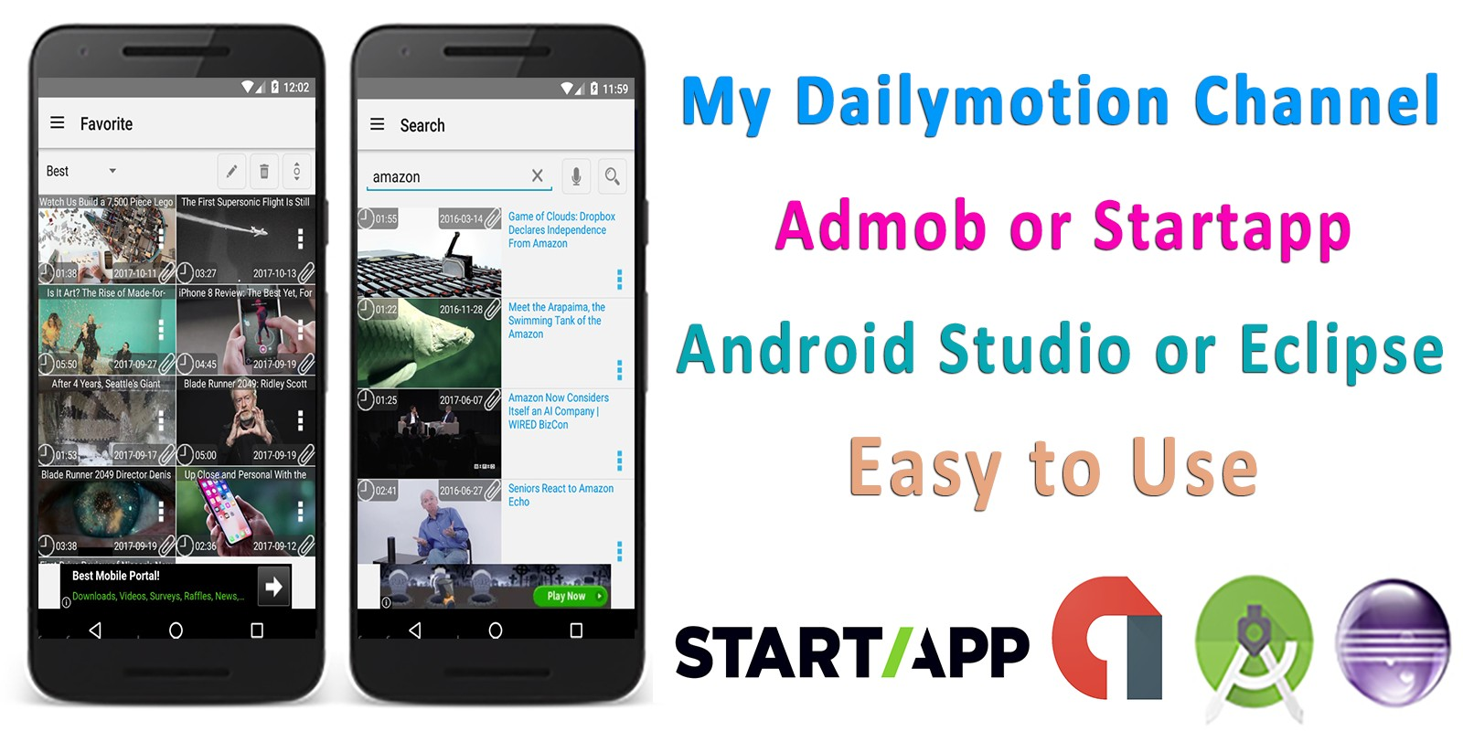 My Dailymotion Channel - Android Source Code