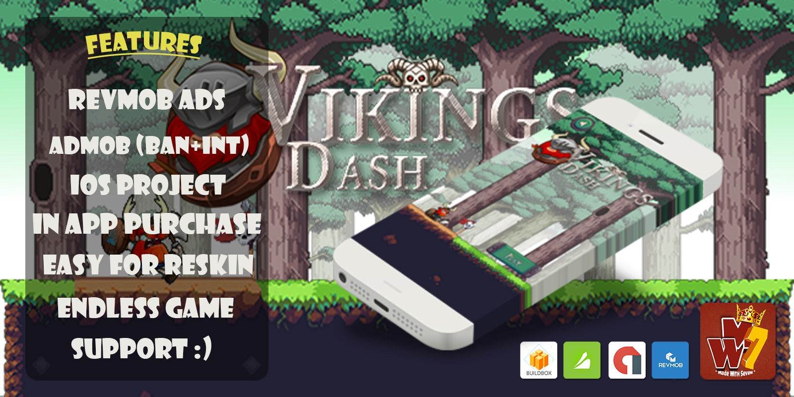 Viking Dash - iOS Xcode And Buildbox Project