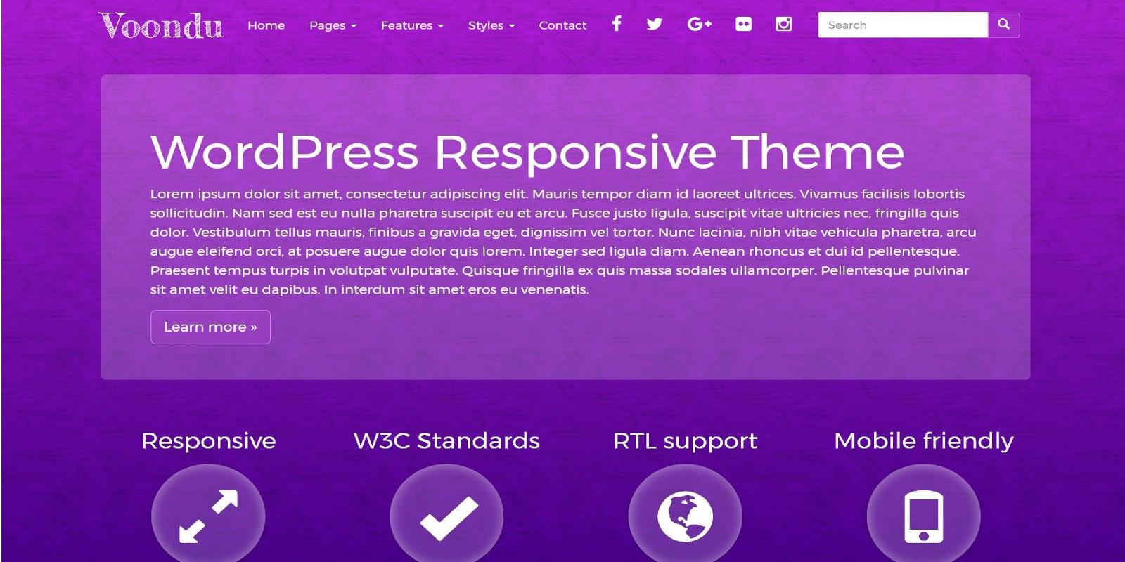 Voondu - Responsive WordPress Theme