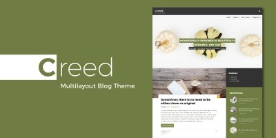 Creed - WordPress Multilayout Blog Theme
