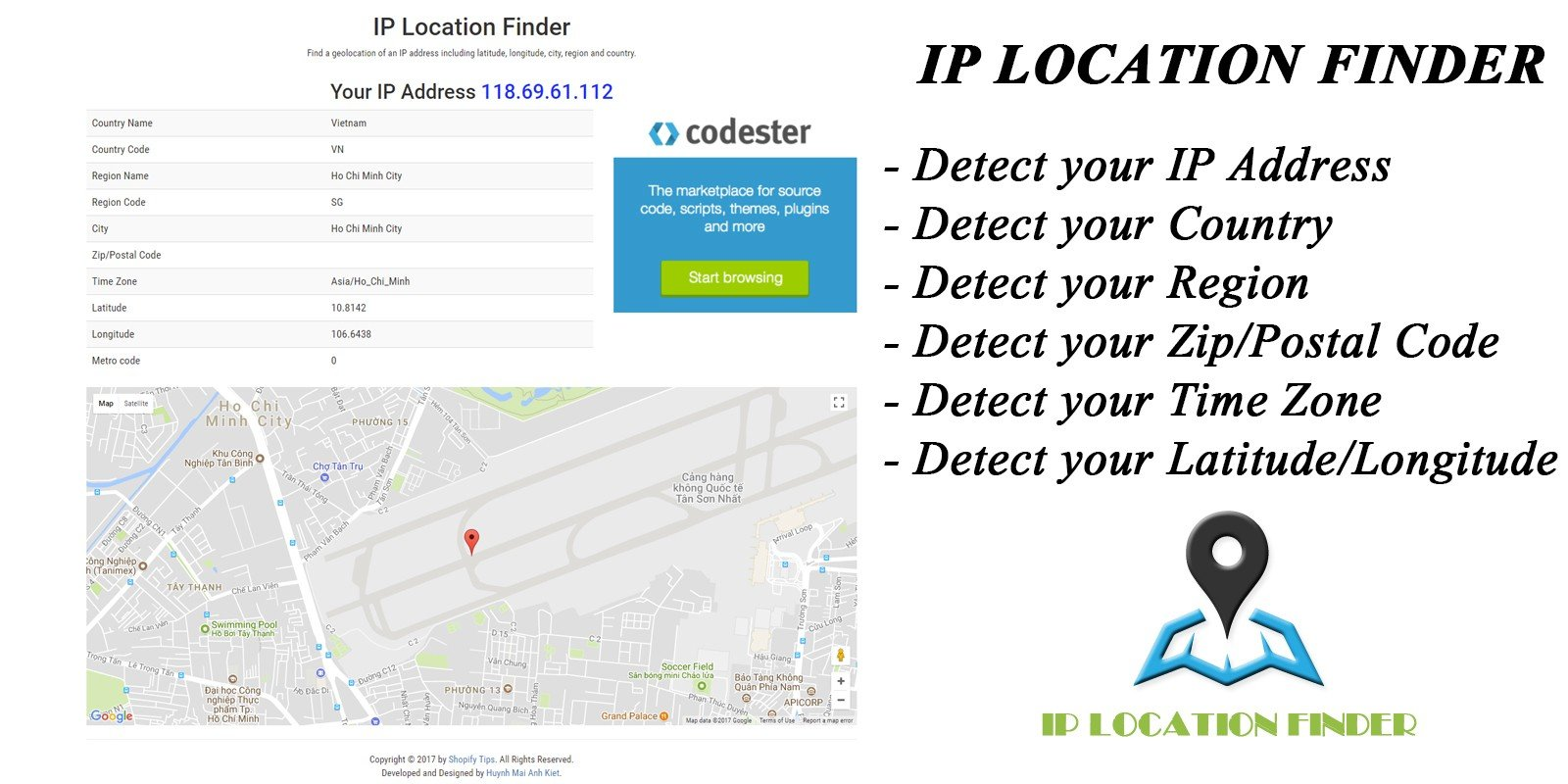find the location of ip