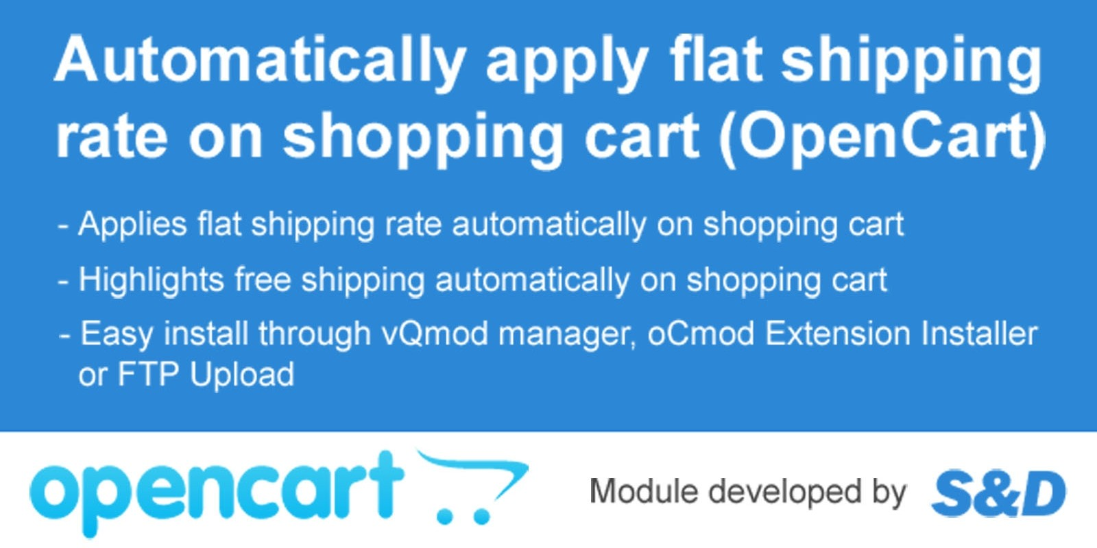 Auto Shipping Extension for OpenCart